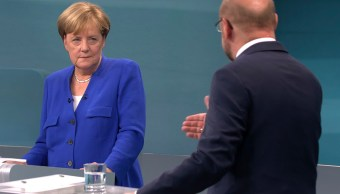 Merkel y Schulz protagonizan un único debate televisado en Alemania