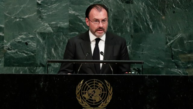 Luis Videgaray habla en la Asamblea de la ONU
