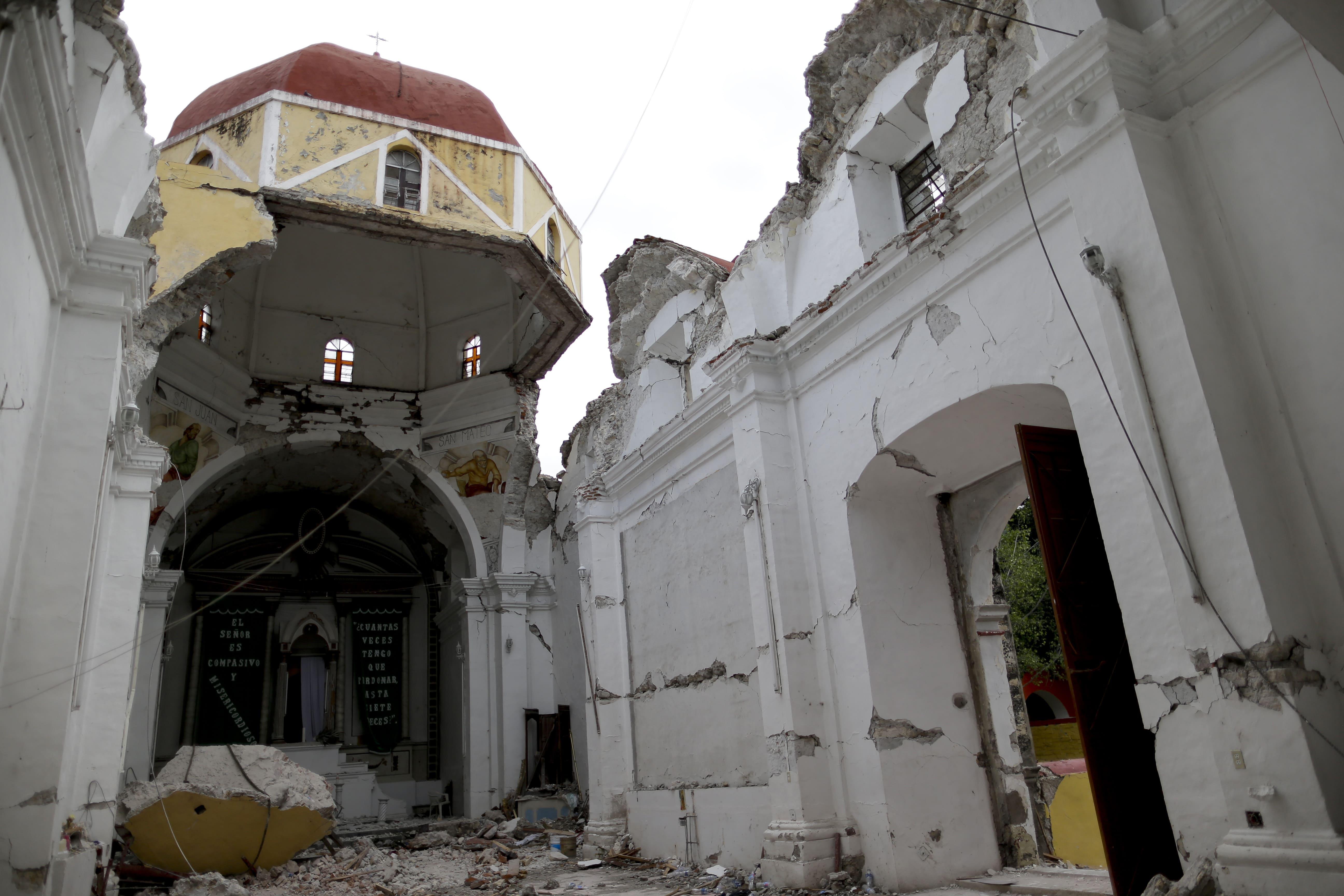 Daños en patrimonio histórico por sismo