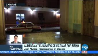 Aumenta cifra de muertos en Chiapas tras sismo