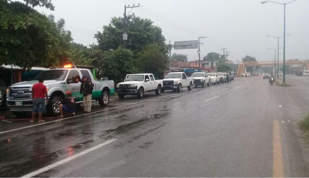 proteccion civil de chiapas atienden deslave en apvencul