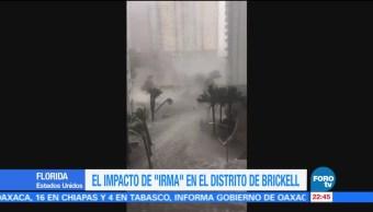 Avenida Brickell Miami Inunda Paso Irma