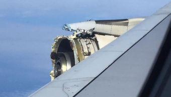 Avión Air France aterriza de emergencia en Canadá con un motor dañado
