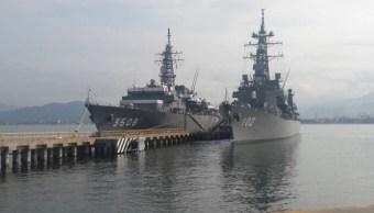 Escuadrón Naval de Japón está de visita en Manzanillo, Colima
