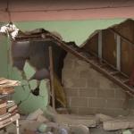 Casa afectada tras sismo en Paredón, Chiapas