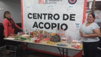 Metro concluye colecta de víveres para población afectada por sismo