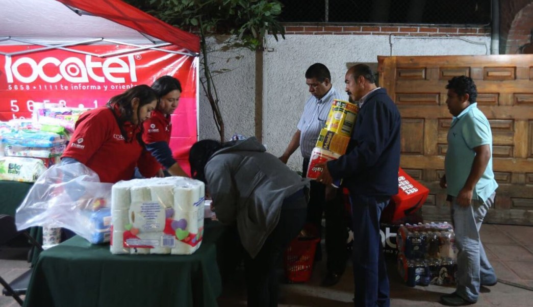 Instalan 30 centros de acopio en CMDX para afectados por el sismo