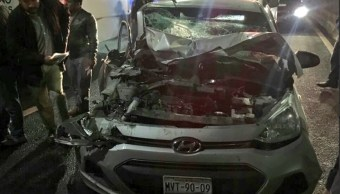 accidente en la carretera mexico toluca deja varios lesionados