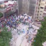 Colapsa edificio sismo CDMX imagen dron