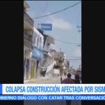 Colapsa inmueble afectado por sismo en Juchitán Oaxaca