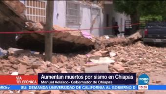 Continúan Labores Rescate Chiapas Gobernador