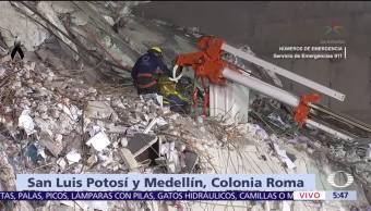 Continúan Labores Rescate Colonia Roma Rescatistas Erik Gaona