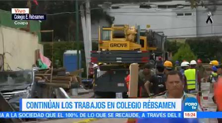 Continúan Trabajos Colegio Rébsamen Autoridades Confirman