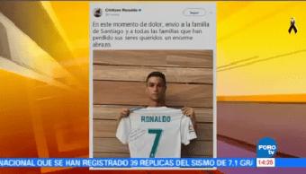 Cristiano Ronaldo Manda Mensaje Familia Niño Fallecido Colegio Rébsamen