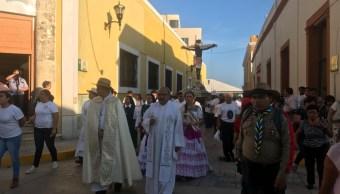 cristo negro de san roman recorre calles de campeche