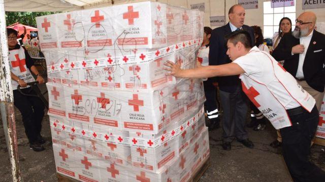 Cruz Roja pide estar tranquilos de que donativos llegarán a damnificados