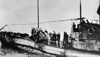 Cubierta de un submarino alemán UC97 de la I Guerra Mundial