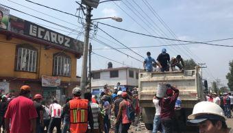 San Gregorio poblado Xochimilco sismo CDMX