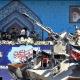 Presidente de Iran observa el desfile militar
