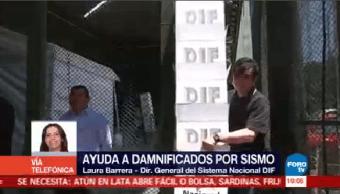 Dif Continúa Repartición Ayuda Damnificado Sismo Laura Barrera