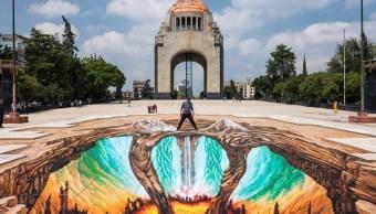 Artista alemán presenta obra sobre historia de volcanes en la CDMX