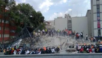 Edificio colapsado por sismo en Viaducto y Torreón