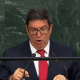 El canciller cubano, Bruno Rodríguez, en la ONU.