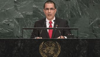 El ministro de Exteriores de Venezuela, Jorge Arreaza, habla ante la Asamblea General de la ONU
