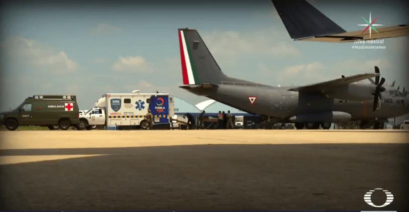 Fuerza Aérea Mexicana traslada a heridos en Oaxaca por sismo