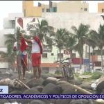 Habilitan albergues en Tecolutla, Veracruz, ante la llegada de 'Katia'