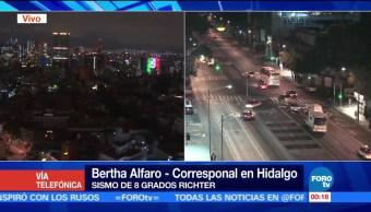 Hidalgo en calma tras sismo en CDMX