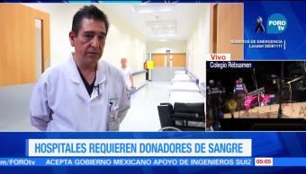 Hospitales Requieren Donadores Sangre Servicio De Urgencias