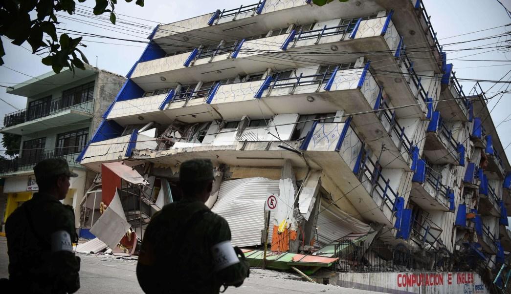 Hotel Ane Centro, afectado por sismo en Matías Romero, Oaxaca