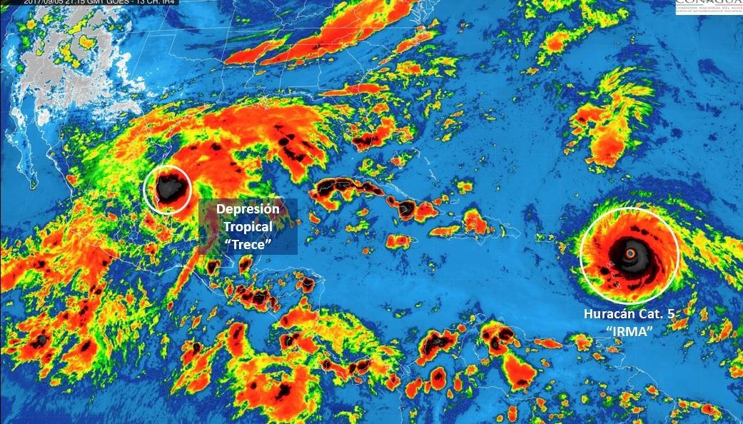 Se forma la depresión tropical 13 en el Golfo de México