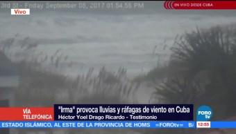 Huracán 'Irma' provoca lluvias y ráfagas de viento en Cuba