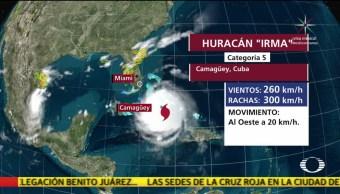 Huracán 'Irma' se fortalece a categoría 5