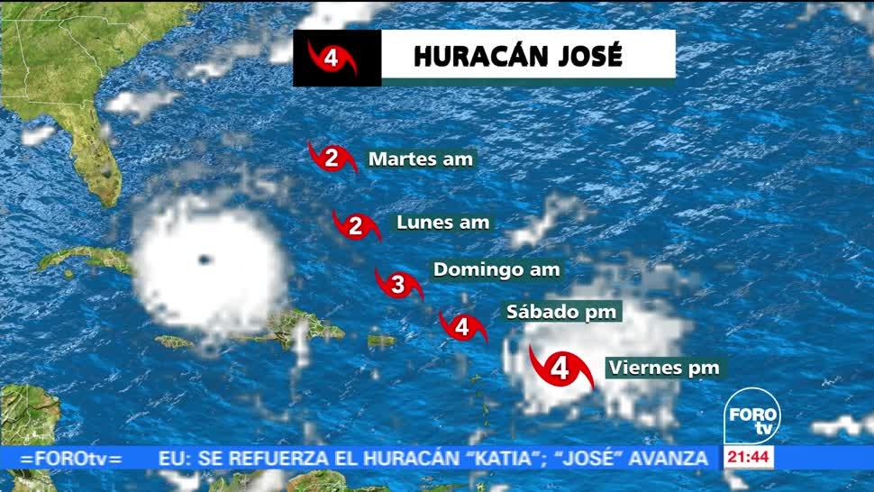 Huracán 'José' alcanza la categoría 4