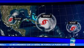 Huracanes 'Katia' 'Irma' y 'José' aterrorizan el Caribe