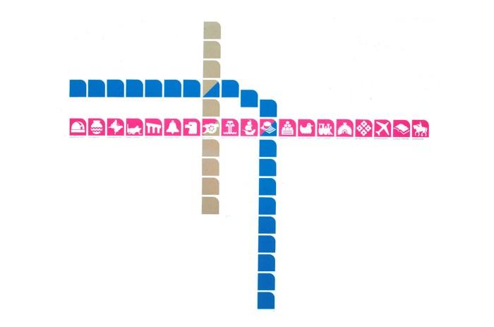 Identidad gráfica de las líneas 1,2 y 3 del Metro de la CDMX.