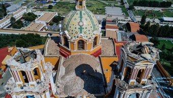 Iglesia de los Remedios en San Andrés Cholula, Puebla, tras sismo
