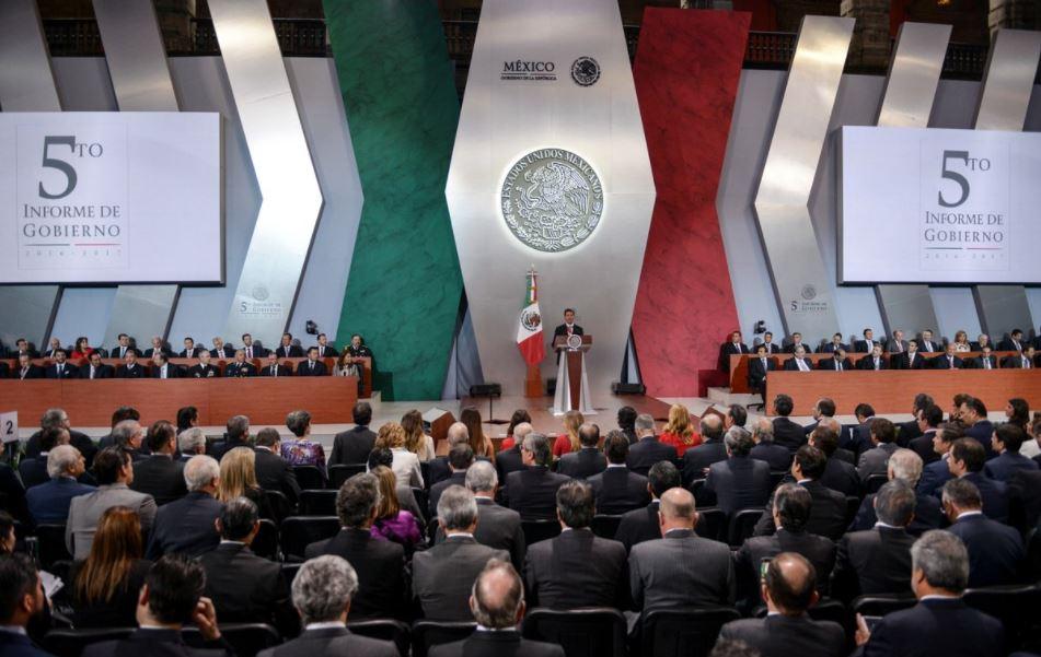 Peña Nieto ofrece un mensaje por su Quinto Informe de Gobierno