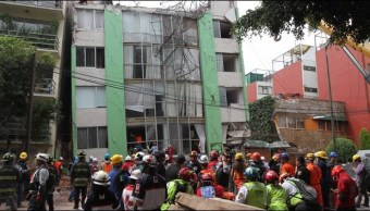 inmueble dañado por sismo en la ciudad de mexico