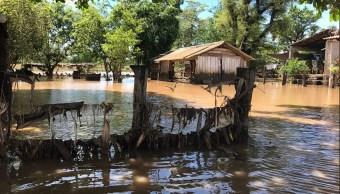 lluvias provocan el desbordamiento del río Marabasco