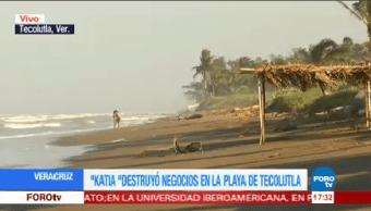 Katia Destruyó Negocios Playa Tecolutla