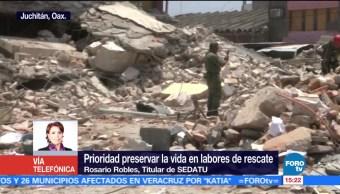 Prioridad Llevar Ayuda Afectados Sismo Rosario Robles