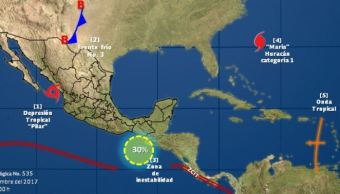 La tormenta tropical 'Pilar' se degrada a depresión tropical