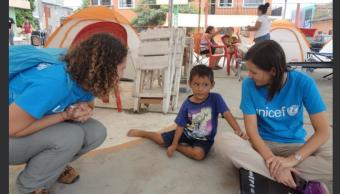 Unicef apoyará a ninos afectados por sismo en Mexico