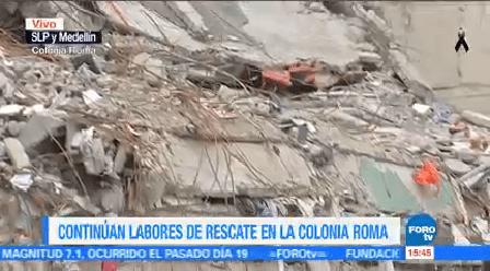 Labores Rescate Colonia Roma Slp Y Medellín