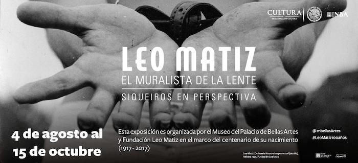 Leo Matiz y Siqueiros en el Palacio de Bellas Artes
