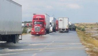 Lluvias afectan la carretera Monterrey-Nuevo Laredo